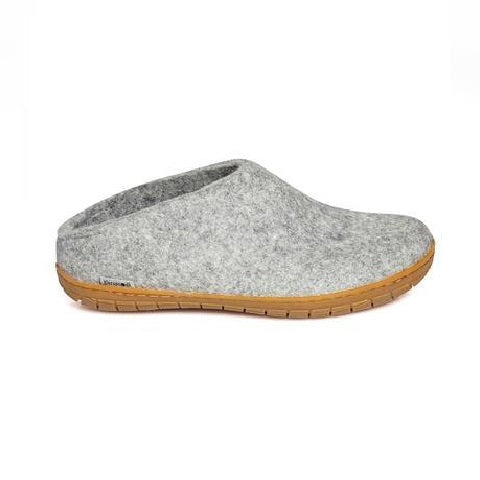 Glerups Slipper - Slipper Cut (Natural Rubber Sole)
