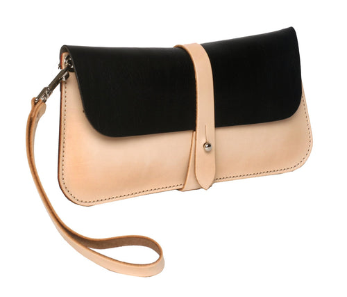 Lily Clutch (Natural/Black) - JMB/King Mountain