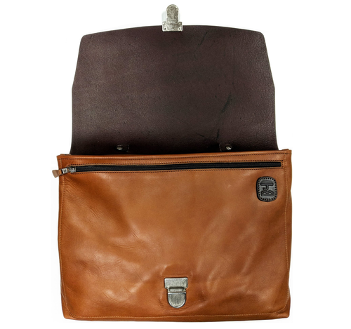 H-Satchel Messenger Bag (Tan/Brown) - JMB/King Mountain