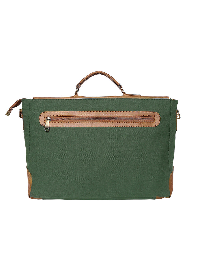Green Monkey - Vegan Laptop Messenger Bag - EVOQ