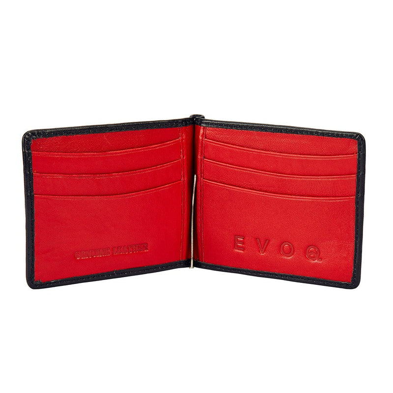 Black and Red Money Clipper - Black and Red Wallet, Money Clipper, EVOQ, EVOQ - evoqstyle.com