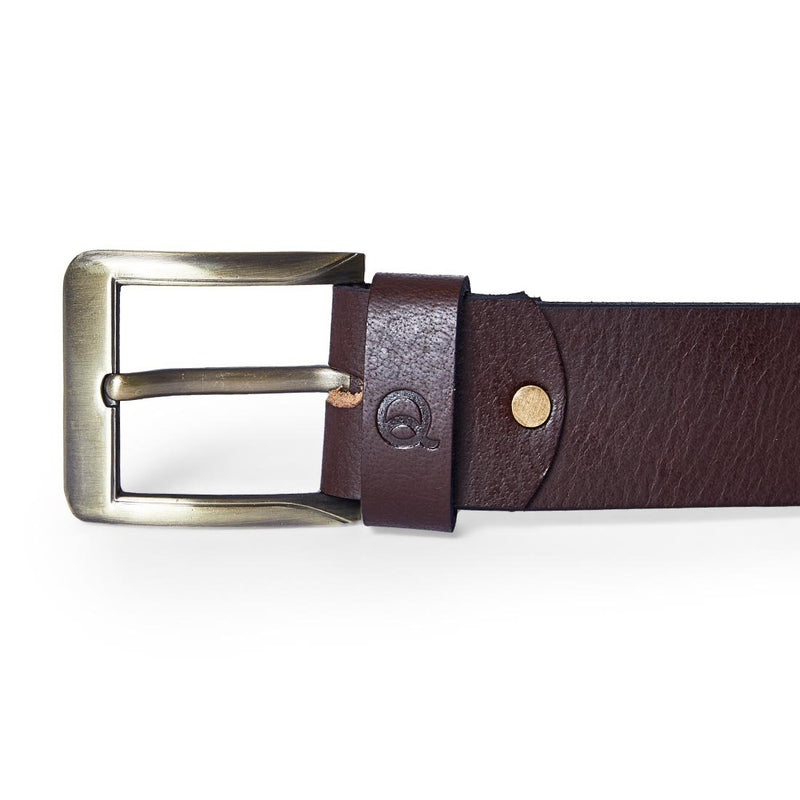 EVOQ Brown Leather Belt, Belts, EVOQ, EVOQ - evoqstyle.com