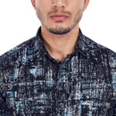 Frosty Road - Black Printed Cotton Casual Wear and Party Wear Shirt, Shirts, EVOQ, EVOQ - evoqstyle.com