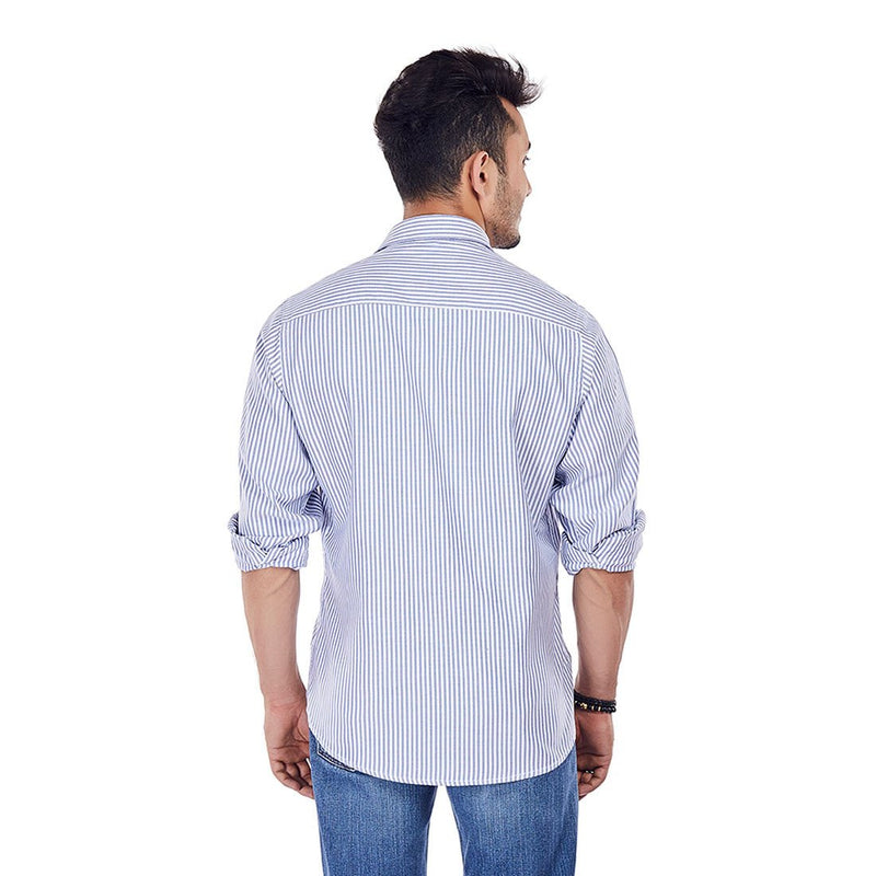 Nautical Miles - Stripe Cotton Formal Wear and Casual Wear Shirt, Shirts, EVOQ, EVOQ - evoqstyle.com