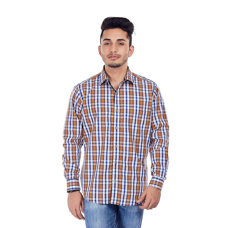Ochre Skies - Checkered Premium Cotton Formal Wear and Casual Wear Shirt, Shirts, EVOQ, EVOQ - evoqstyle.com