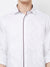 Peace Lover - EVOQ Men's 100% Pure Superior Cotton White Full Sleeves Casual Shirt