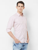 Lucid Dreams - EVOQ Men's 100% Pure Superior Cotton Soft Pink Stripped Full Sleeves Casual Shirt