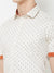 Caramel Latte - EVOQ Men's 100% Pure Superior Cotton Cream Printed Half Sleeves Casual Shirt