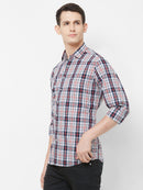 Grey Tartan - EVOQ Men's 100% Pure Superior Cotton Grey Checkered Full Sleeves Casual Shirt