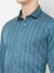 Navy Stripes - EVOQ Men's 100% Pure Superior Cotton Navy Blue Pinstripes Full Sleeves Casual Shirt