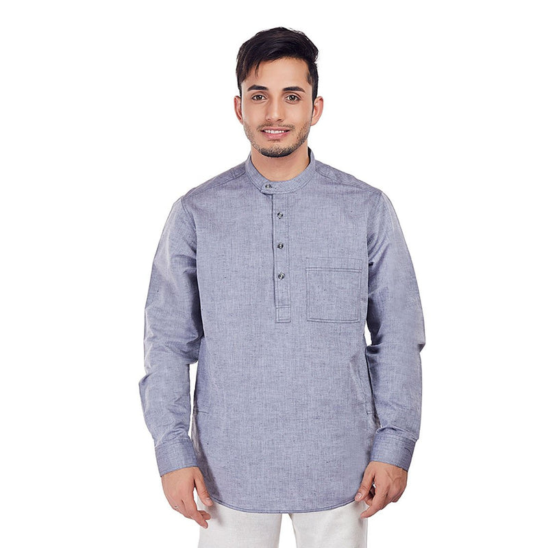 The Phoenix - Grey Short Kurta/Tunic for Festive/Traditional Wear, Tunics, EVOQ, EVOQ - evoqstyle.com