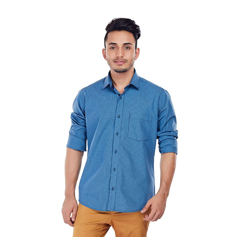 Turquoise Tango - Premium Cotton Formal Wear and Evening Wear Shirt - EVOQ
