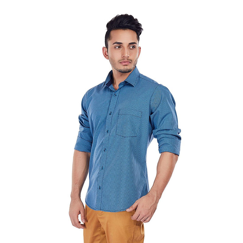 Turquoise Tango - Premium Cotton Formal Wear and Evening Wear Shirt, Shirts, EVOQ, EVOQ - evoqstyle.com