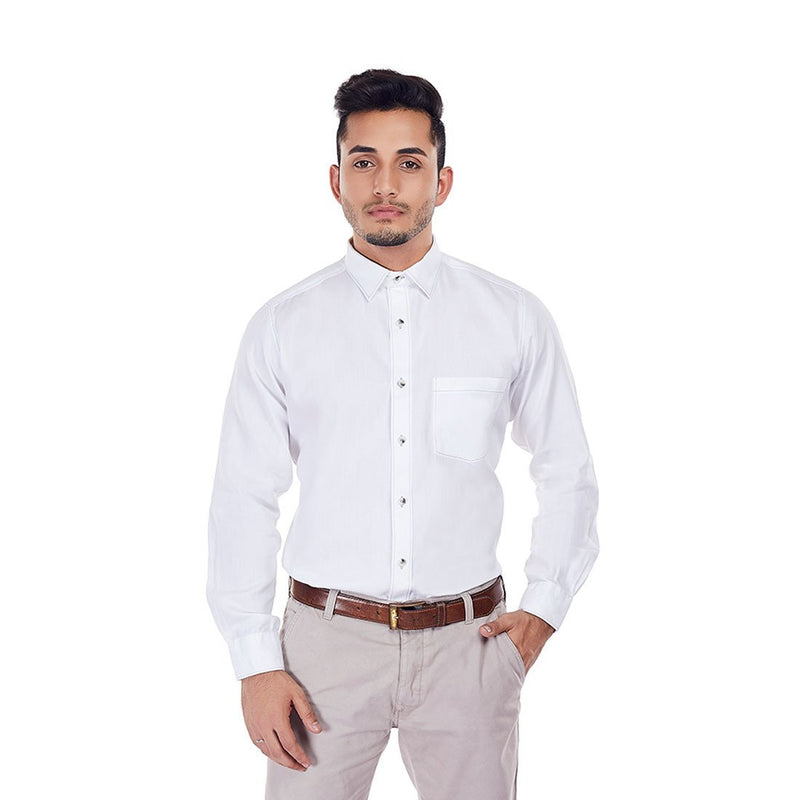 White Raven - White Color Cotton Party Wear and Formal Wear Shirt - EVOQ
