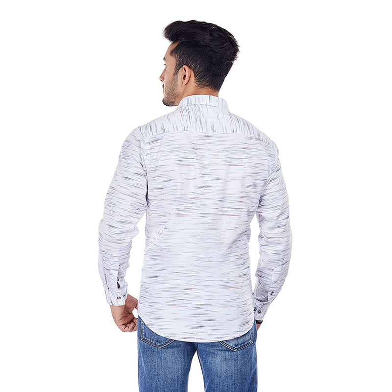 White Spark - White Printed Casual Wear and Party Wear Shirt, Shirts, EVOQ, EVOQ - evoqstyle.com