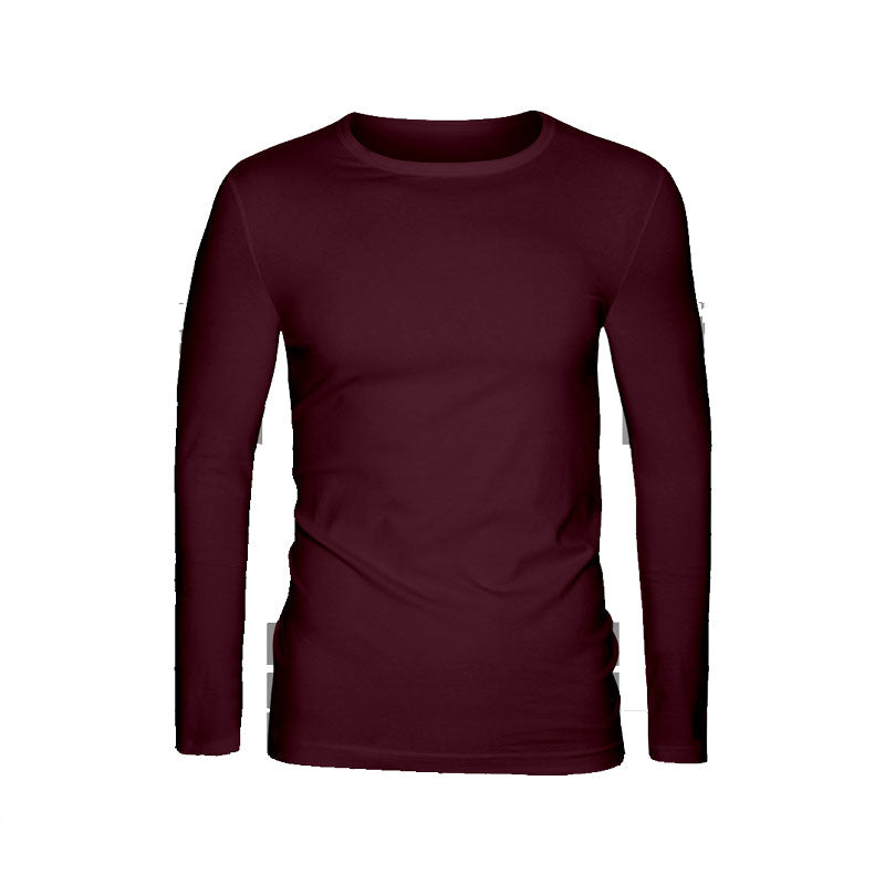 Cotton T-Shirt Men Full Sleeves Maroon