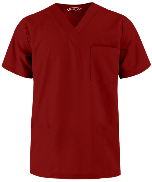 Men V Neck One Pocket Scrubs