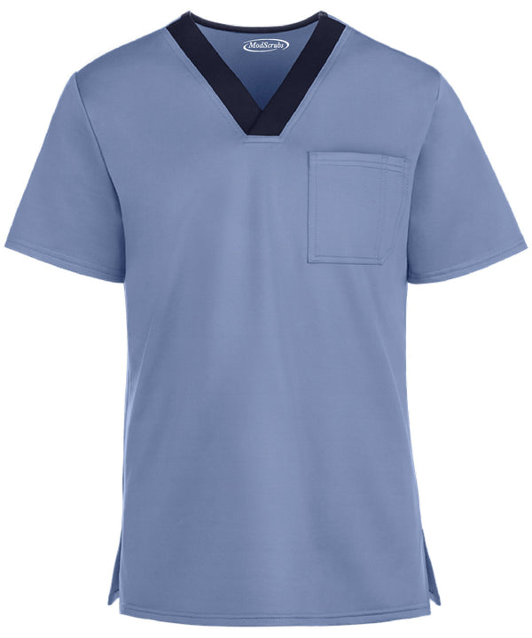 Men V-Neck one pockets scrubs