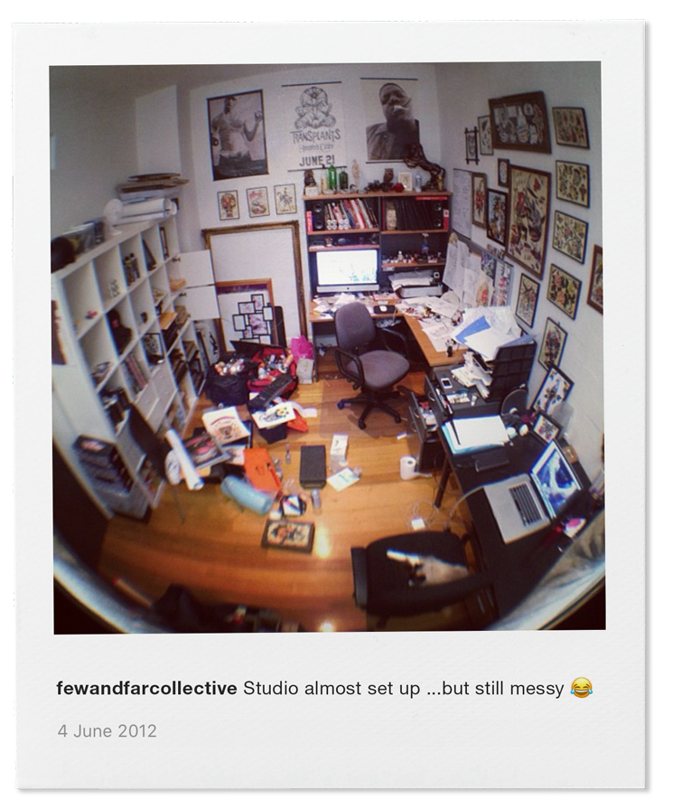 Our First Studio in Melbourne - 4 June 2012