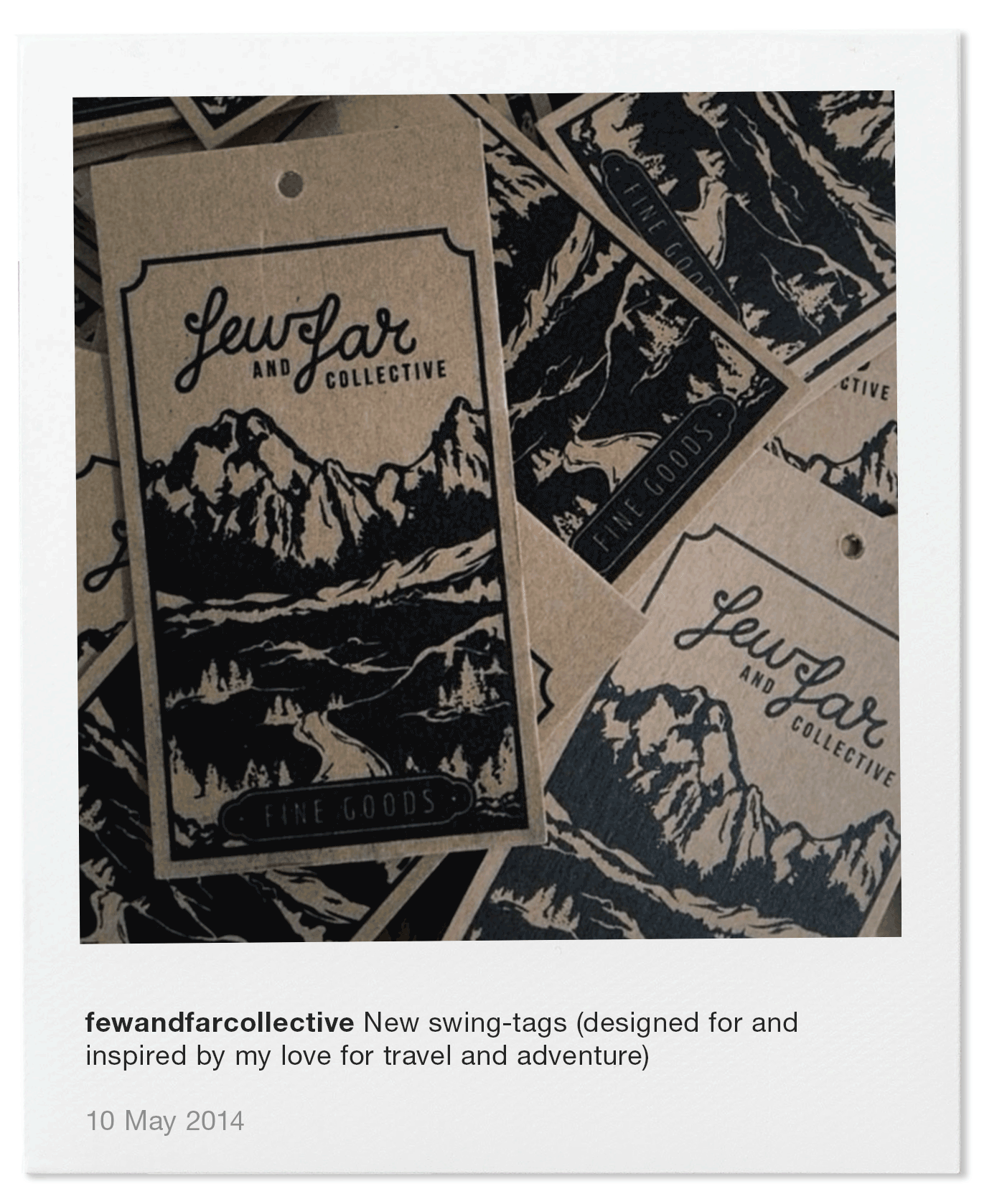 New swing-tags (designed for and inspired by my love for travel and adventure)
