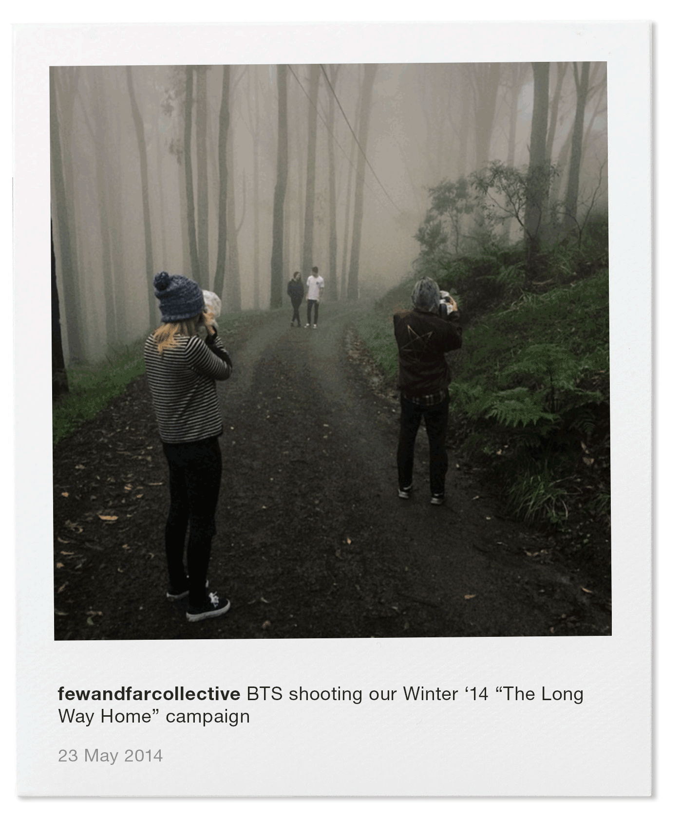 """BTS shooting our Winter '14 """"The Long Way Home"""" campaign"""