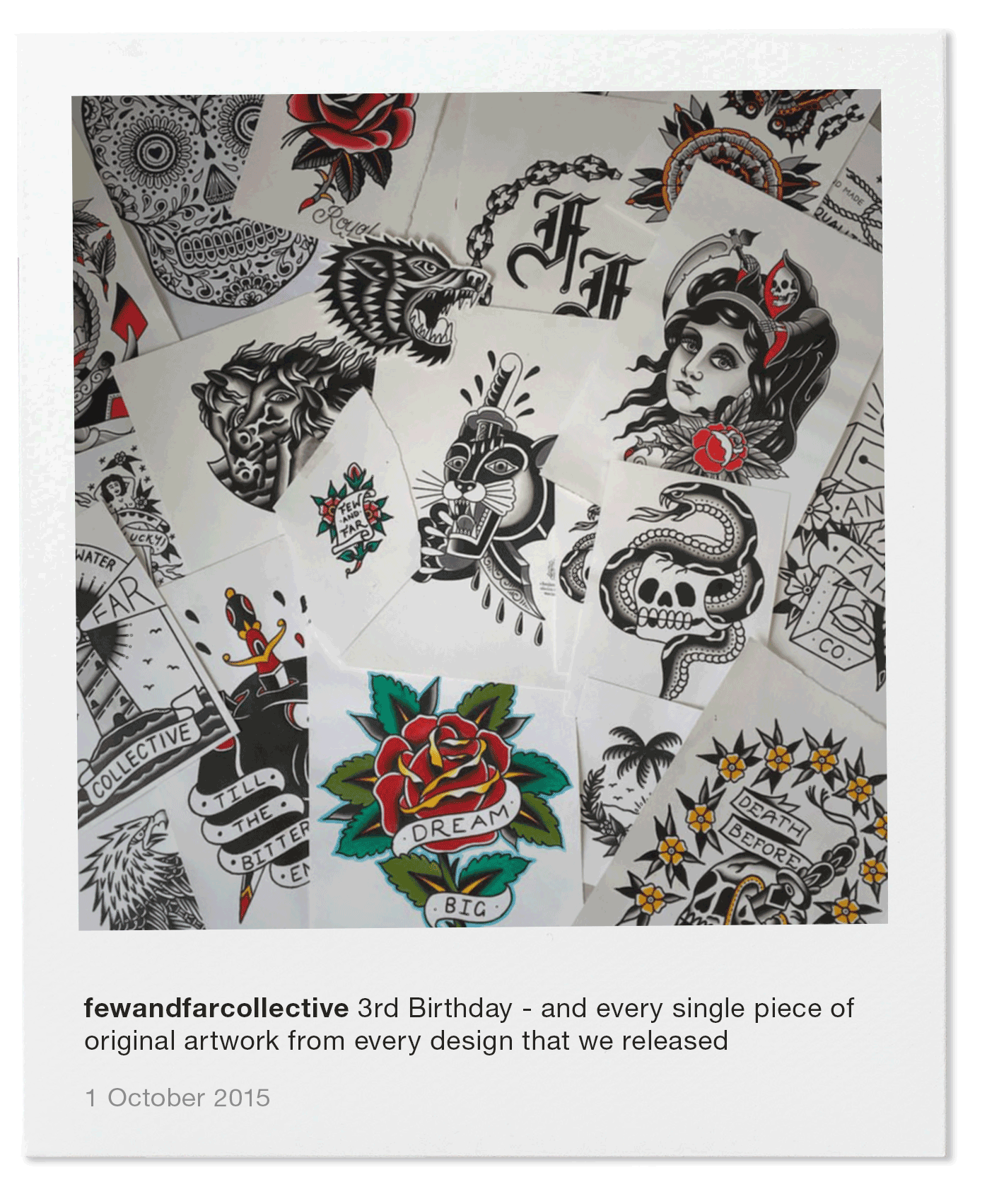 3rd Birthday - and every single piece of original artwork from every design that we released