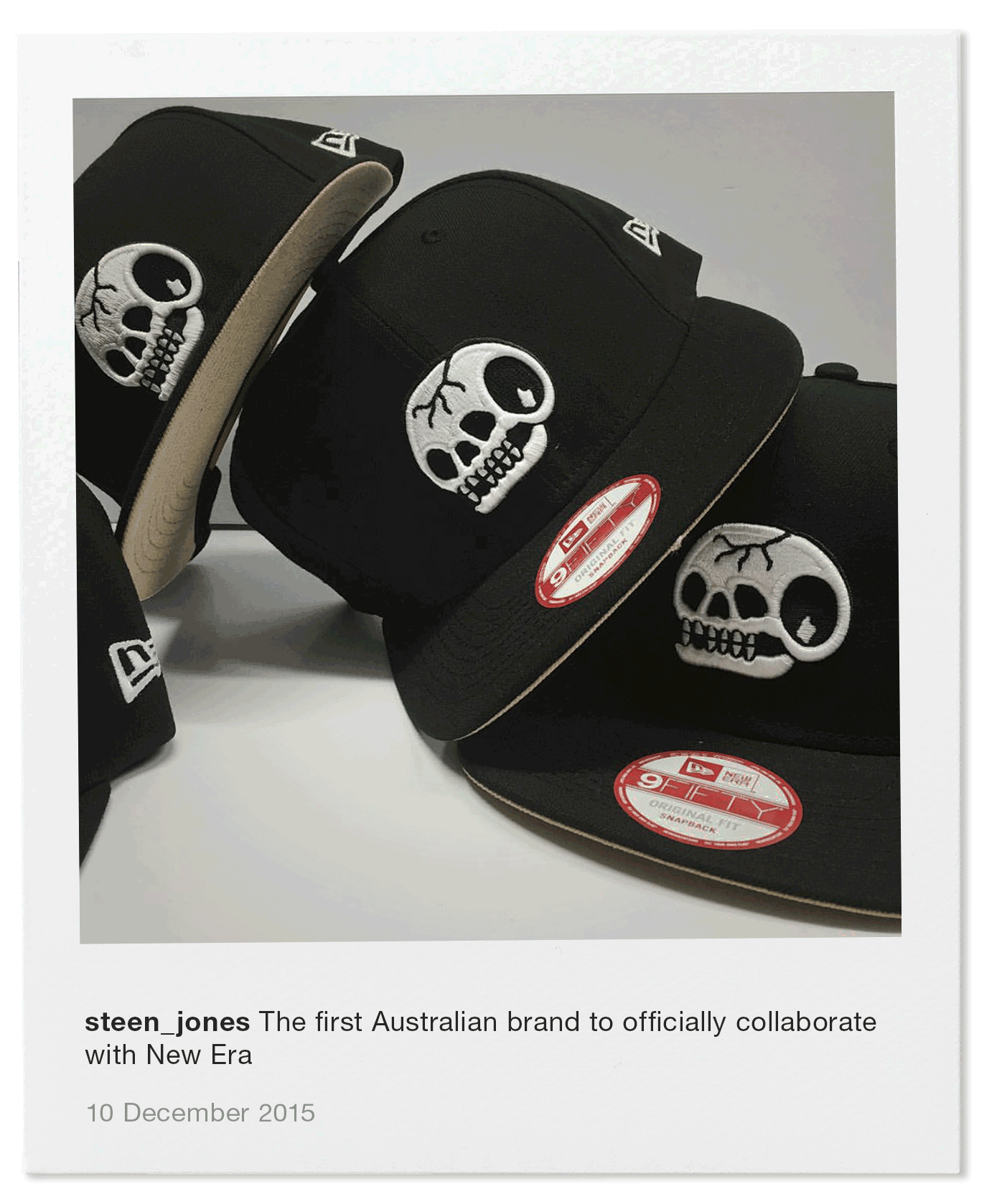 """The first Australian brand to officially collaborate with New Era"""" face"""