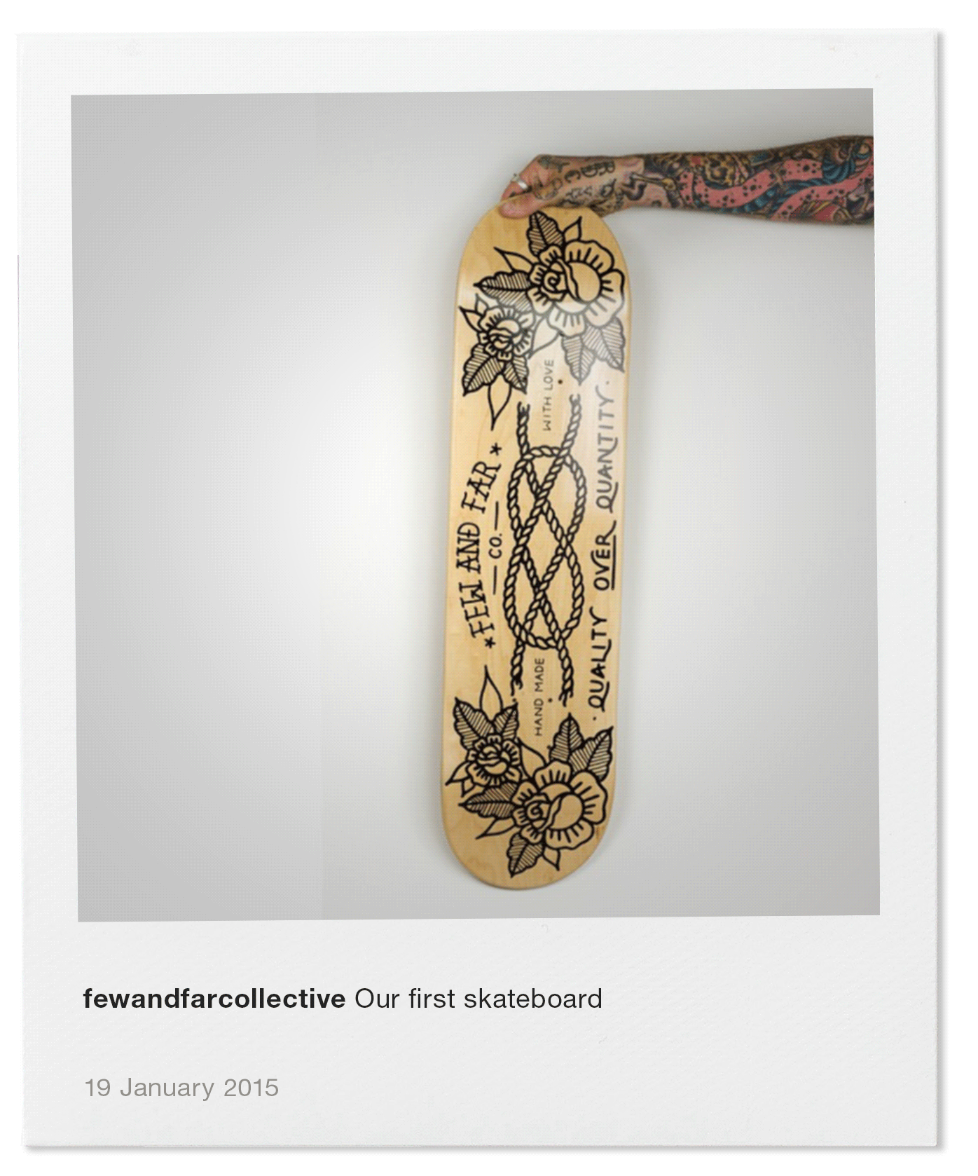 Our first skateboard