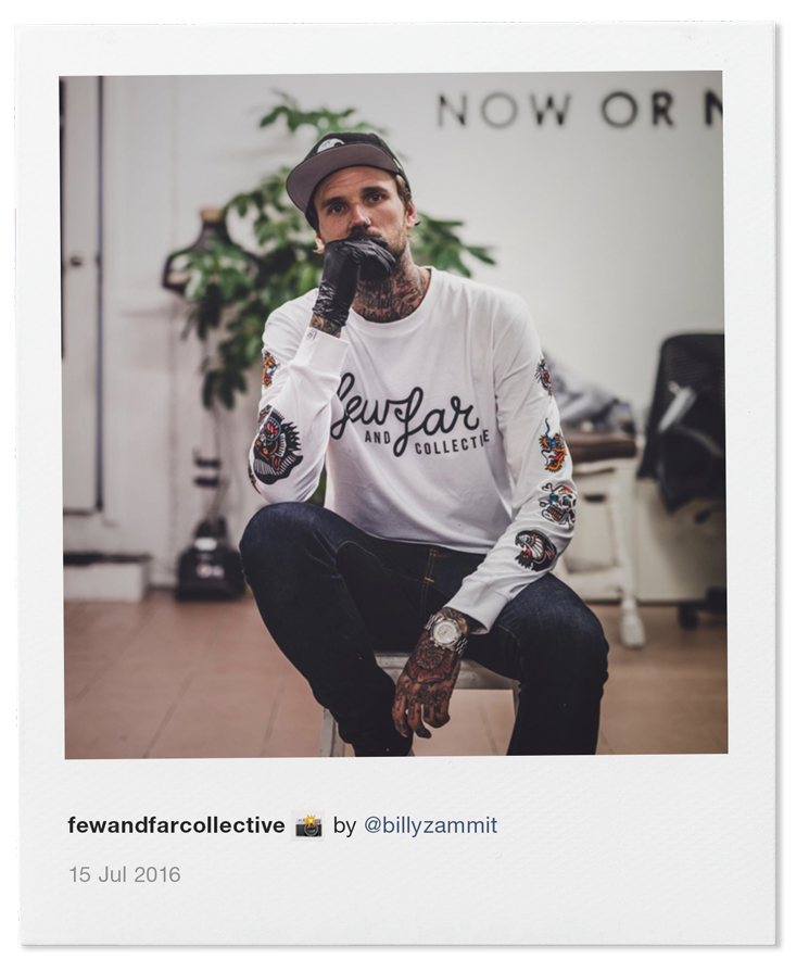 Steen Jones photographed by Billy Zammit at Now or Never Supply in Bondi Beach - 15 July 2016