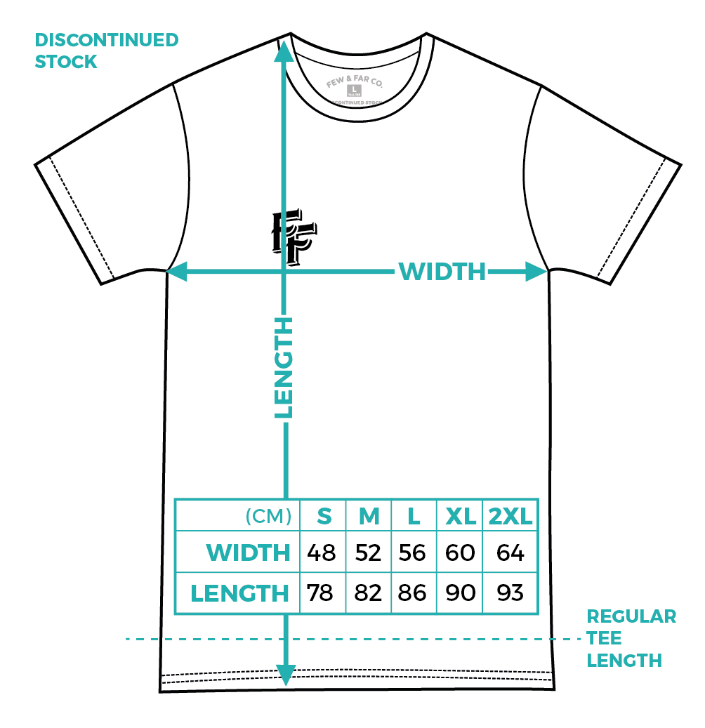 Discontinued Tall Few and Far Collective Tee