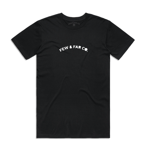 Black 'Arched Logo' Tee