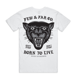 White 'Born To Live' Tee