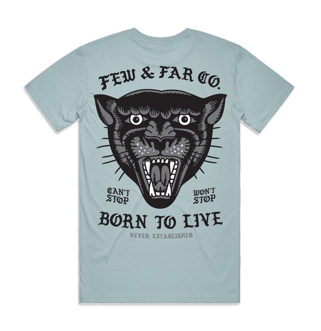 Pale Blue 'Born To Live' Tee