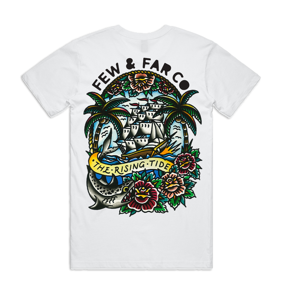White 'Rising Tide' Tee
