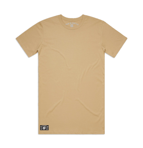 Tan 'Basic' Tall Tee