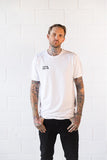 White 'Blue Arms Cobra' Tall Tee