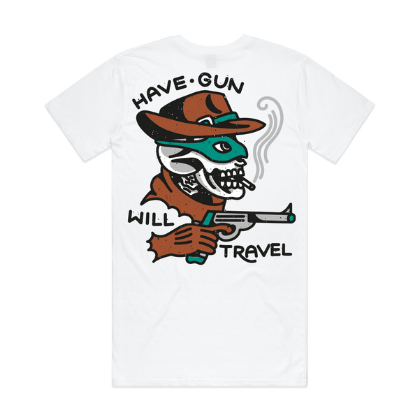White 'Have Gun' Tall Tee