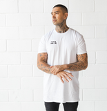 White 'Mask' Tall Tee