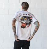 White 'Panther' Tall Tee