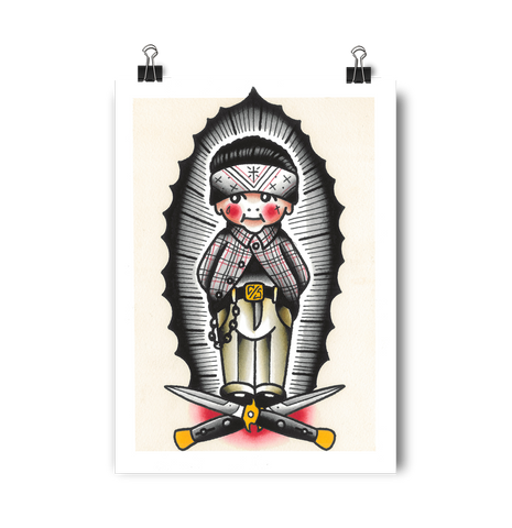 'VL Kewpie' Digital print by Rohan Skilton printed by Few and Far Studio for Few and Far Co.
