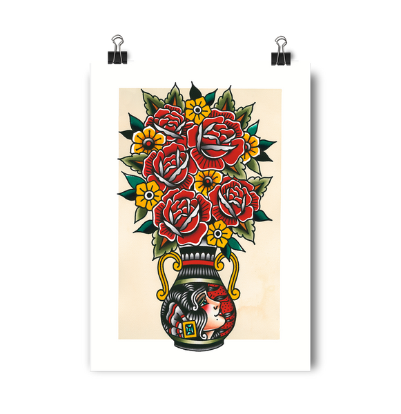 'Vase Girl' Digital print by Rohan Skilton printed by Few and Far Studio for Few and Far Co.