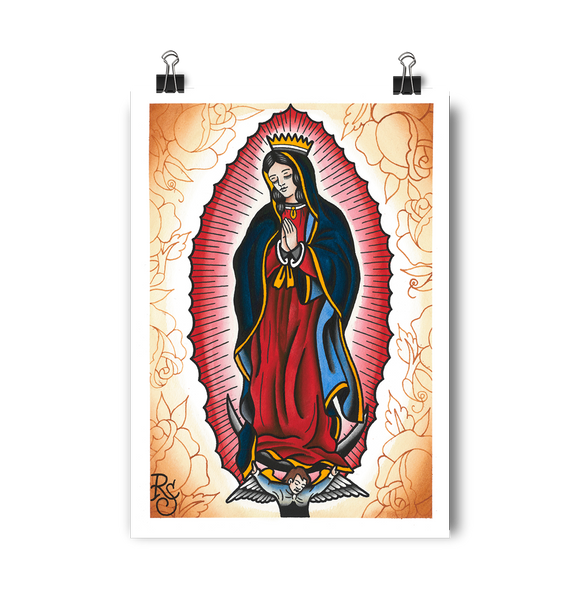 'Our Lady' Digital print by Rohan Skilton printed by Few and Far Studio for Few and Far Co.
