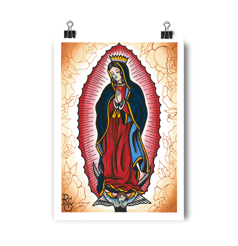 'Our Lady' digital print by artist Rohan Skilton