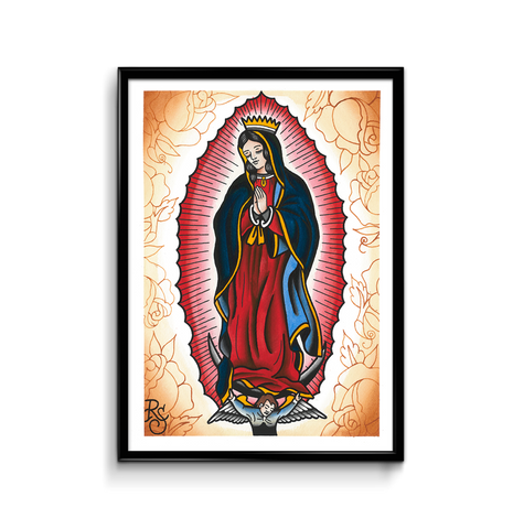 'Our Lady' fine art giclee print by Rohan Skilton printed by Few and Far Studio for Few and Far Co.