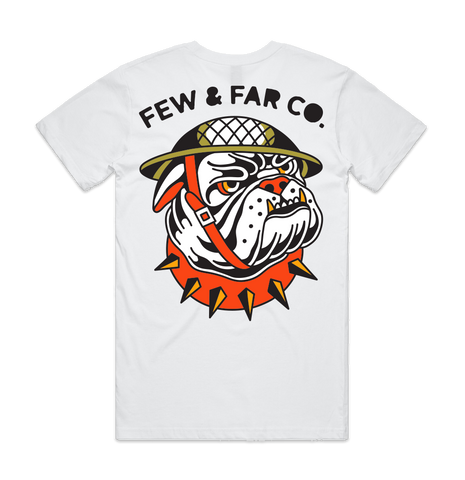 White 'Bulldog' Tee