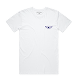 White 'Blue Arms Safeish' Tee