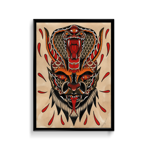 'Cobra Demon' Fine Art Print