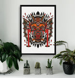'Demon' Fine Art Giclee print by Shamus Mahannah printed by Few and Far Studio for Few and Far Co.