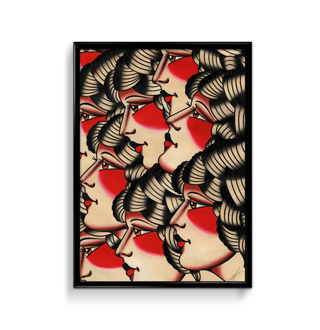 'Girl Heads' Fine Art Print