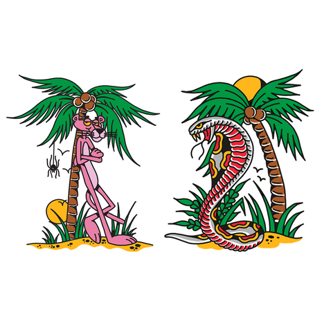 'Vacay Pink Panther' Sticker